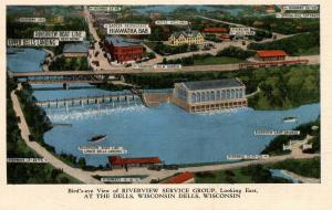 WI - The Dells. Bird's Eye View of Riverview Service Group