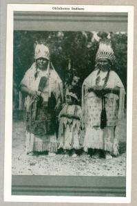 Oklahoma Indians, unused Postcard, docketed 1948