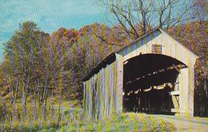 Licking County Covered Bridge #4 Over Rocky Fork Fallsburg Ohio