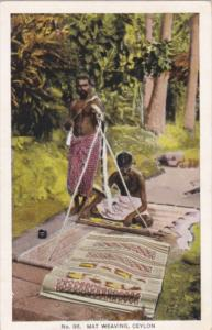 Sri Lanka Ceylon Natives Mat Weaving 1925