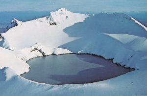 Crater Lake Mount Ruapehu Tongariro National Park New Zealand Postcard