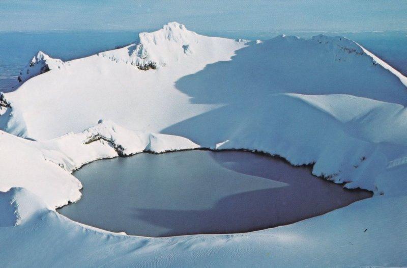 Crater Lake Mount Ruapehu Tongariro National Park New Zealand Postcard