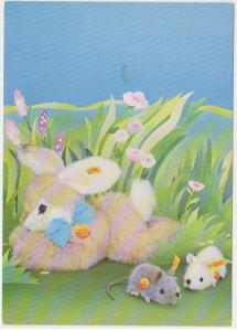 RABBIT AND MICE TOY STUFFIES