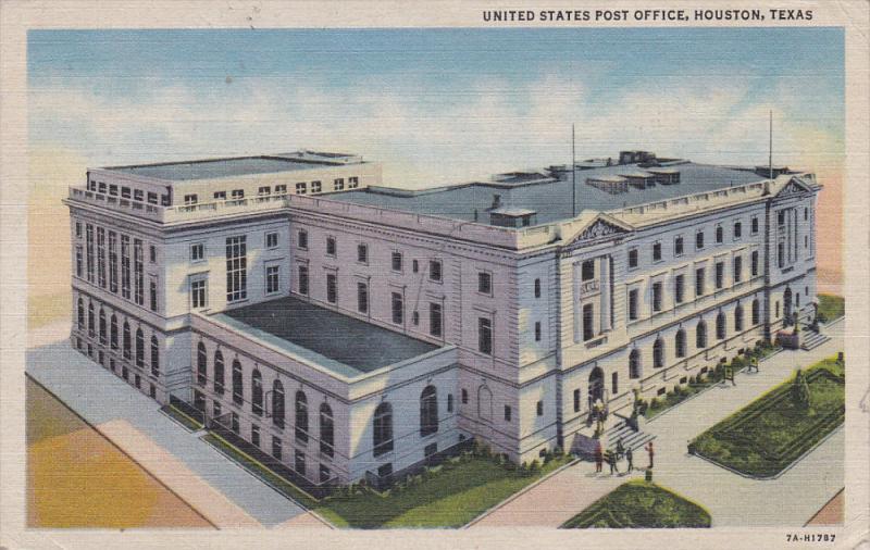 HOUSTON, Texas, 1930-1940's; United States Post Office