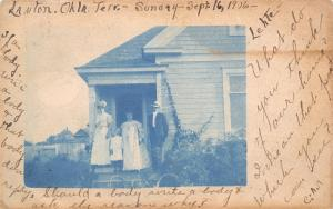 Lawton-Deer Creek Indian Territory~What Do You Think Of Our Home? Cyanotype '06
