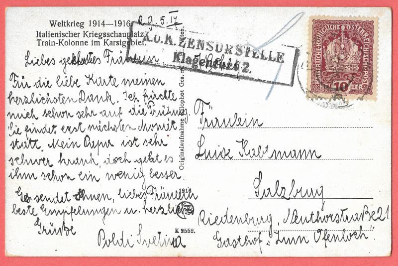 Weltkrieg, Austria 1914-1916 used