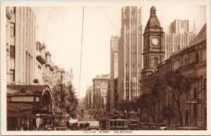 Collins Street Melbourne Australia AU Unused Postcard E57
