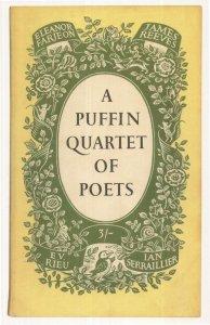 A Puffin Quartet Of Poets EV Rieu 1958 Book Postcard