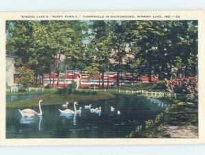 Linen LAKE SCENE Winona Lake - Wayne Indiana IN hp6511