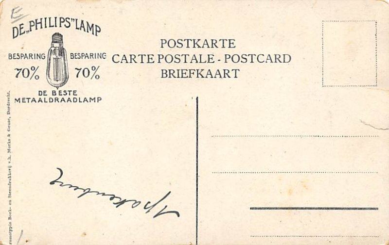 Advertising Post Card Philips Holland Writing on back