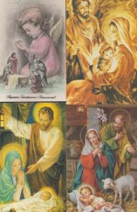 Poland Nativity Painting Polish Christmas Christian 4x Postcard s