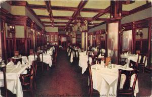 Grand Rapids Michigan~Bauman's Cafe-Ladies Dining Room~1911 Postcard