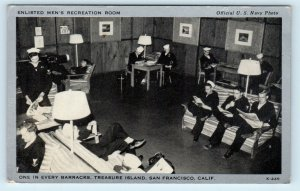 TREASURE ISLAND, San Francisco CA California ~ RECREATION ROOM c1940s Postcard