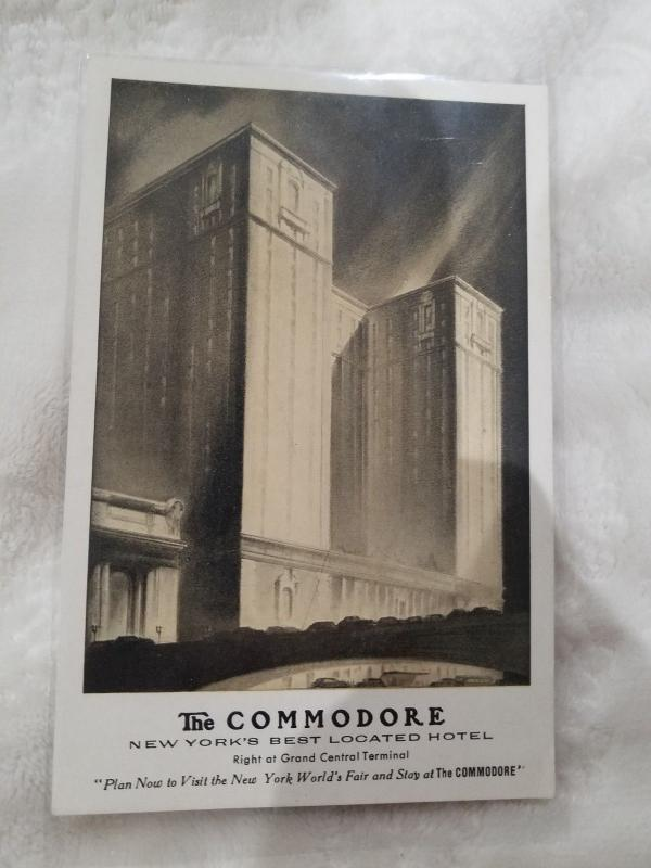 Antique Postcard, The Commodore, New York's Best Located Hotel