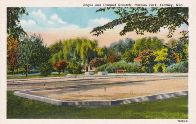 Nebraska Kearney Roque and Croquet Grounds Harmon Park Curteich