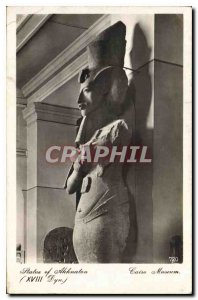 Old Postcard Egypt Egypt Cairo Museum Statue of Akhenaten (XVII Dyn)