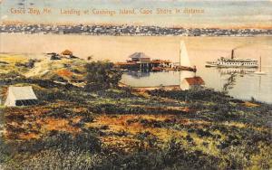 Maine  Casco Bay, Landing at Cushings Island, Cape Shore