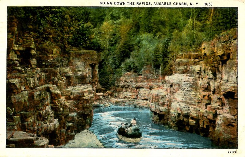 NY - Ausable Chasm. Shooting the Rapids