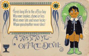 Toast to Ye Office Devil~Angel Office Boy~Not Late~Grandma Never Dies~1908 Comic