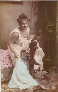 RP: [tinted] , Woman undressing # 2, 1904 : Photographer A.G. STEGLITZ