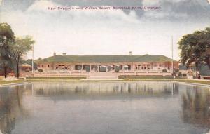 Chicago Illinois~Garfield Park~New Pavilion Reflects Water Court~1914 VO Hammon