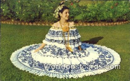 Panama Panama Young Lady, Pollera National Costume