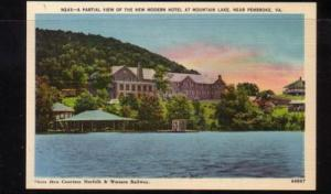 Virginia Postcard New Hotel Mtn Lake near Pembroke