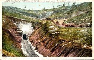 Train Going Through Raton Tunnel Highest Point On The Santa Fe Between Trinid...