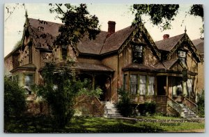 Evanston Illinois~Frances E Willard Home~Close Up Cottage Rest~1910 Postcard