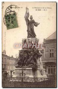 Old Postcard The Monument of Defense Saint Dizier