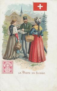 SWITZERLAND, 1901-07; La Poste en Suisse