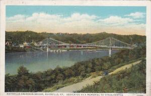 Kentucky Maysville Aberdeen Bridge 1939 Curteich