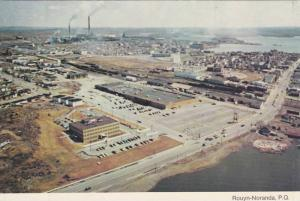 Aerial Panoramic View, Commercial Center, Rouyn-Noranda, Quebec, Canada, 50-7...