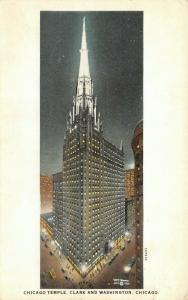 Chicago IL~Night Lights Temple ME Church~Rev Thompson~Clark & Washington~1924