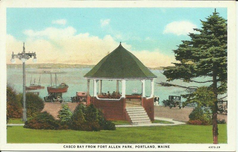 Portland, Maine, Casco bay From Fort Allen Park