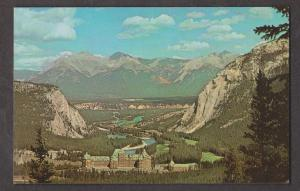 Banff - View Of Banff Springs Hotel, Bow Valley & Fairholm Mountains