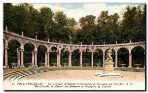 Old Postcard Park of Versailles Colonnade Mansard and I & # 39enlevement Pros...