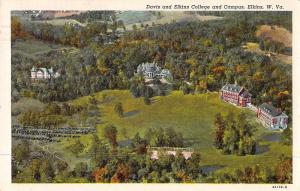 Elkins West Virginia Davis and Elkins College and Campus Postcard J46912