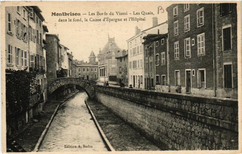 CPA MONTBRISON - Les Bords du Vizezi - Les Quais (487697)
