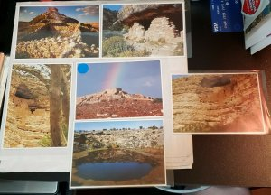 Postcard Set: Sinagua Ruins- 6 cards Lot- Tuzigoot - Montezuma Castle+ well 1990