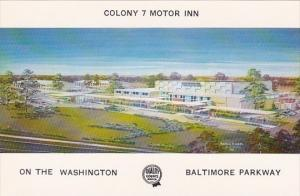 Baltimore Colony 7 Motor Inn On The Washington Baltimore Maryland