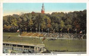 D21/ Granville Ohio Postcard c1930 Stadium Deeds Field Denison University