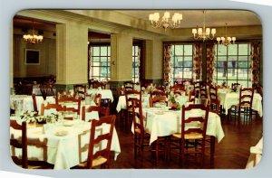 Berea KY-Kentucky, Boone Tavern Hotel, Georgian Dining Room, Chrome Postcard