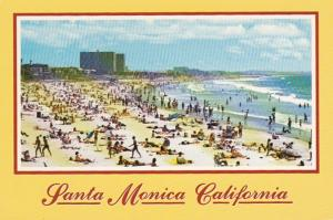 California Santa Monica Beach Scene