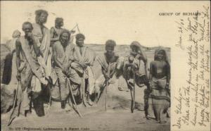 North Africa Natives Muslims? Group of Bicharis Used 1906 Postcard