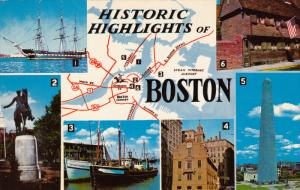 Historic Highlights of Boston, BOSTON, Massachusetts, 40-60´s