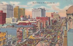 Louisiana New Orleans Mardi Gras Parade Curteich