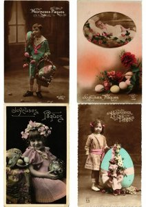 OEUF DE PAQUES EASTER EGGS GLAMOUR REAL PHOTO Lot of 250 CPA (L2456)