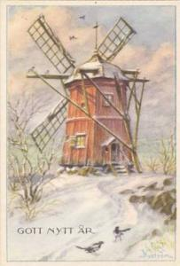 Gott Nytt Ar,  Snow covered Windmill, 00-10s