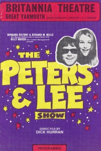 Peters & Lee Live Great Yarmouth Norfolk Vintage Theatre Programme